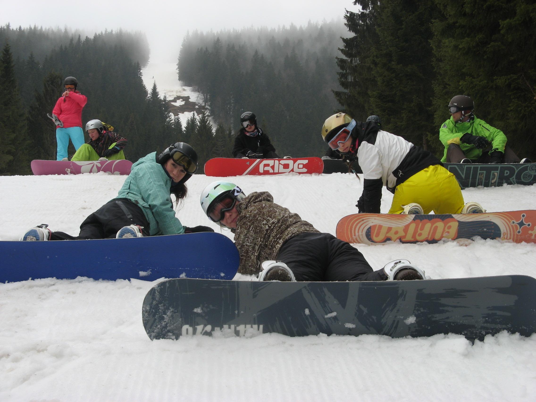 snowboardový kurz